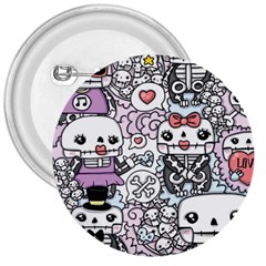 Kawaii Graffiti And Cute Doodles 3  Buttons
