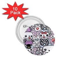Kawaii Graffiti And Cute Doodles 1.75  Buttons (10 pack)