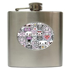 Kawaii Graffiti And Cute Doodles Hip Flask (6 Oz)