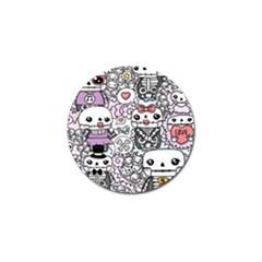 Kawaii Graffiti And Cute Doodles Golf Ball Marker