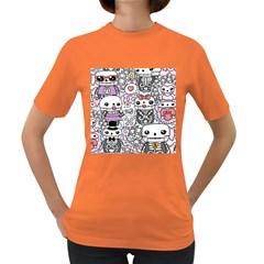 Kawaii Graffiti And Cute Doodles Women s Dark T-Shirt