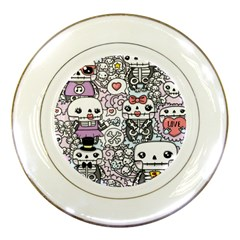 Kawaii Graffiti And Cute Doodles Porcelain Plates