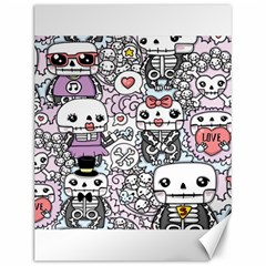 Kawaii Graffiti And Cute Doodles Canvas 12  x 16