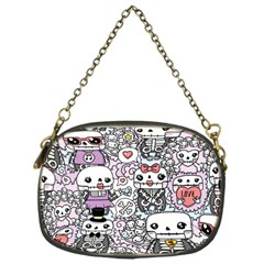 Kawaii Graffiti And Cute Doodles Chain Purses (one Side)