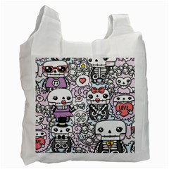 Kawaii Graffiti And Cute Doodles Recycle Bag (One Side)