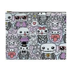 Kawaii Graffiti And Cute Doodles Cosmetic Bag (XL)