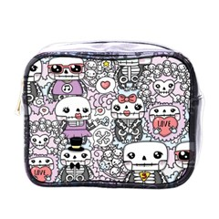 Kawaii Graffiti And Cute Doodles Mini Toiletries Bags