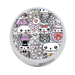 Kawaii Graffiti And Cute Doodles 4-Port USB Hub (One Side)