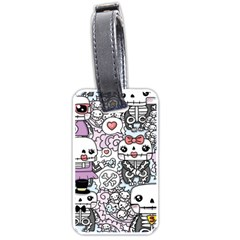 Kawaii Graffiti And Cute Doodles Luggage Tags (One Side)