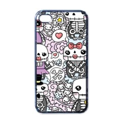 Kawaii Graffiti And Cute Doodles Apple iPhone 4 Case (Black)