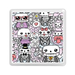 Kawaii Graffiti And Cute Doodles Memory Card Reader (square)