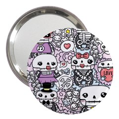 Kawaii Graffiti And Cute Doodles 3  Handbag Mirrors