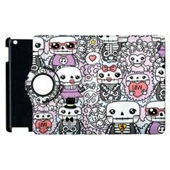 Kawaii Graffiti And Cute Doodles Apple Ipad 3/4 Flip 360 Case