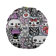 Kawaii Graffiti And Cute Doodles Standard 15  Premium Round Cushions
