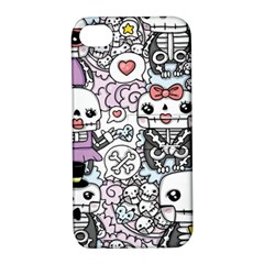 Kawaii Graffiti And Cute Doodles Apple Iphone 4/4s Hardshell Case With Stand
