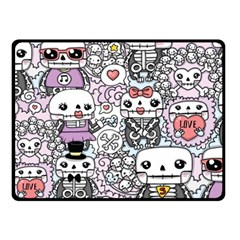 Kawaii Graffiti And Cute Doodles Double Sided Fleece Blanket (small)