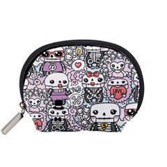 Kawaii Graffiti And Cute Doodles Accessory Pouches (small)