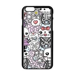 Kawaii Graffiti And Cute Doodles Apple Iphone 6/6s Black Enamel Case