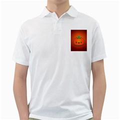 Simple Orange Pumpkin Cute Halloween Golf Shirts