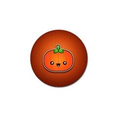 Simple Orange Pumpkin Cute Halloween Golf Ball Marker (10 pack)