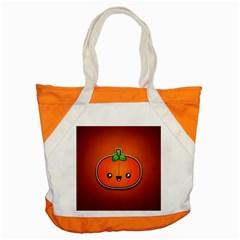 Simple Orange Pumpkin Cute Halloween Accent Tote Bag