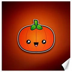 Simple Orange Pumpkin Cute Halloween Canvas 12  x 12
