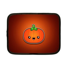 Simple Orange Pumpkin Cute Halloween Netbook Case (small)