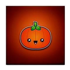 Simple Orange Pumpkin Cute Halloween Face Towel