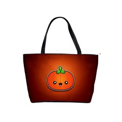 Simple Orange Pumpkin Cute Halloween Shoulder Handbags