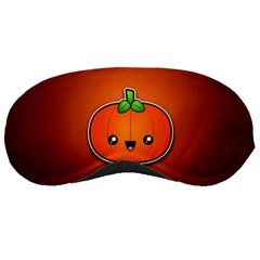 Simple Orange Pumpkin Cute Halloween Sleeping Masks