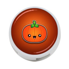 Simple Orange Pumpkin Cute Halloween 4-Port USB Hub (One Side)