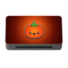 Simple Orange Pumpkin Cute Halloween Memory Card Reader With Cf