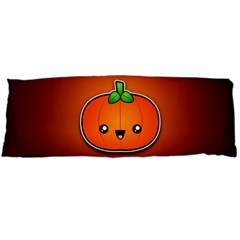Simple Orange Pumpkin Cute Halloween Body Pillow Case (dakimakura)