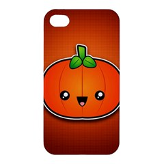 Simple Orange Pumpkin Cute Halloween Apple Iphone 4/4s Premium Hardshell Case