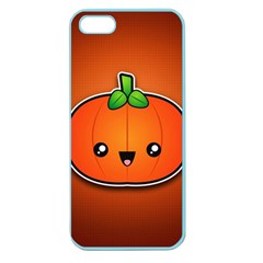 Simple Orange Pumpkin Cute Halloween Apple Seamless Iphone 5 Case (color)