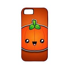 Simple Orange Pumpkin Cute Halloween Apple Iphone 5 Classic Hardshell Case (pc+silicone)