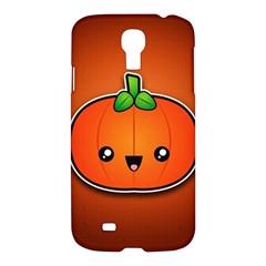 Simple Orange Pumpkin Cute Halloween Samsung Galaxy S4 I9500/i9505 Hardshell Case
