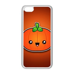 Simple Orange Pumpkin Cute Halloween Apple Iphone 5c Seamless Case (white)