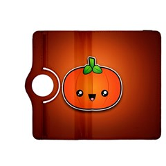 Simple Orange Pumpkin Cute Halloween Kindle Fire HDX 8.9  Flip 360 Case