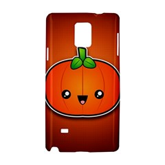Simple Orange Pumpkin Cute Halloween Samsung Galaxy Note 4 Hardshell Case