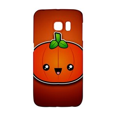 Simple Orange Pumpkin Cute Halloween Galaxy S6 Edge