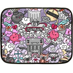 0 Sad War Kawaii Doodle Double Sided Fleece Blanket (mini)