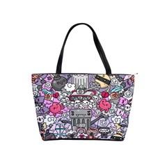 0 Sad War Kawaii Doodle Shoulder Handbags