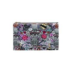 0 Sad War Kawaii Doodle Cosmetic Bag (Small)