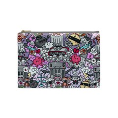 0 Sad War Kawaii Doodle Cosmetic Bag (Medium)