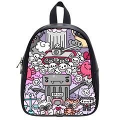 0 Sad War Kawaii Doodle School Bags (small)