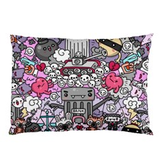 0 Sad War Kawaii Doodle Pillow Case (two Sides)