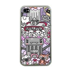 0 Sad War Kawaii Doodle Apple Iphone 4 Case (clear)