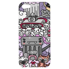 0 Sad War Kawaii Doodle Apple iPhone 5 Hardshell Case
