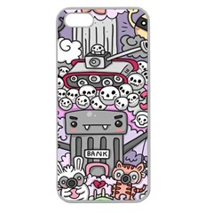 0 Sad War Kawaii Doodle Apple Seamless iPhone 5 Case (Clear)